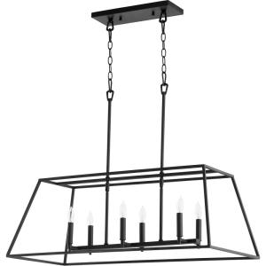 Gabriel - 6 Light Linear Pendant in Quorum Home Collection style - 15 inches wide by 12.5 inches high