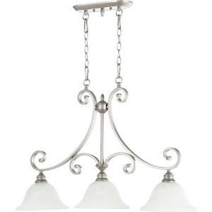 Bryant - 3 Light Island in Quorum Home Collection style - 10 inches wide by 23.5 inches high