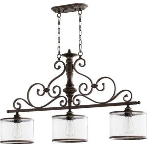 San Miguel - 3 Light Island in Transitional style - 9 inches wide by 24 inches high