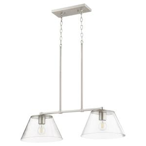 Dunbar - 2 Light Island in Soft Contemporary style - 13 inches wide by 18 inches high