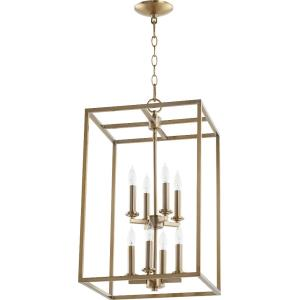 Cuboid - 8 Light 2-Tier Entry Pendant in Quorum Home Collection style - 14 inches wide by 24 inches high