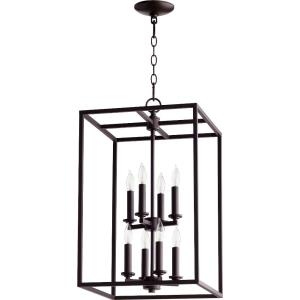 Cuboid - Eight Light 2-Tier Entry Pendant
