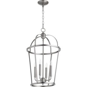 Mitre - 4 Light Entry Pendant in Transitional style - 15 inches wide by 25.5 inches high