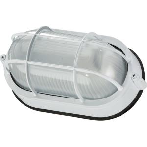 1 Light Oval Bulkhead Wall Mount in style - 8.5 inches wide by 5 inches high