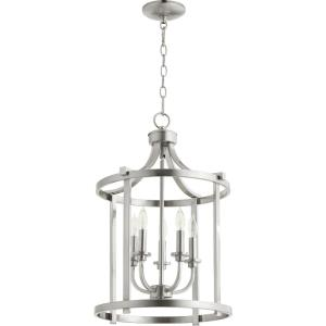Lancaster - 5 Light Entry Pendant in Transitional style - 15.5 inches wide by 23 inches high