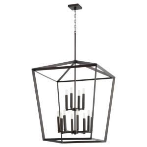 Manor - Twelve Light 2-Tier Entry Pendant