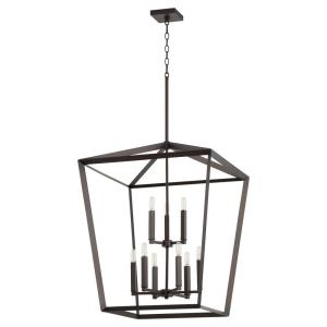Manor - Nine Light 2-Tier Entry Pendant