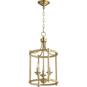 Rossington - 3 Light Entry Pendant in Quorum Home Collection style - 12 inches wide by 21.5 inches high