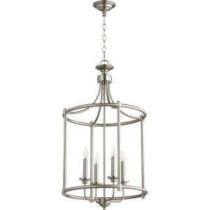 Rossington - 4 Light Entry Pendant in Quorum Home Collection style - 18 inches wide by 30 inches high