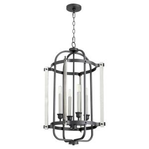 4 Light Entry Pendant in style - 16.5 inches wide by 31 inches high