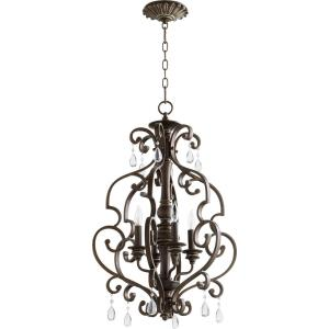 San Miguel - 4 Light Entry Pendant in Transitional style - 18.5 inches wide by 28.5 inches high