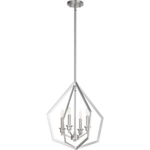 Knox - 4 Light Pendant in Quorum Home Collection style - 18 inches wide by 19 inches high