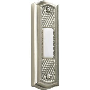 Zinc - Door Button in style - 1 inches wide by 3.5 inches high