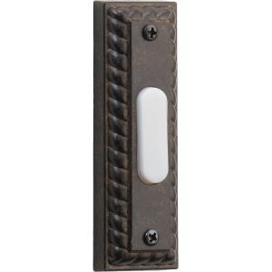 "Traditional - 3.5"" Rectangular Door Chime Button"