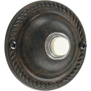 "Traditional - 2.5"" Round Door Chime Button"