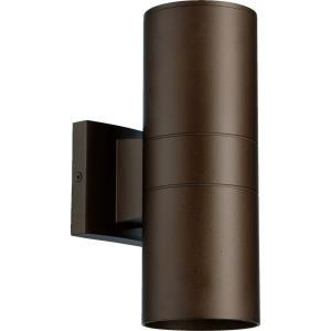 Cylinder - 2 Light Outdoor Wall Lantern in Quorum Home Collection style - 4.25 inches wide by 11.5 inches high