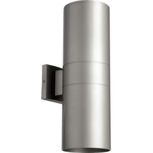 Cylinder - 2 Light Outdoor Wall Lantern in Quorum Home Collection style - 5.75 inches wide by 17.25 inches high