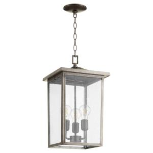 Riverside - 3 Light Outdoor Pendant in Transitional style - 11 inches wide by 19.13 inches high