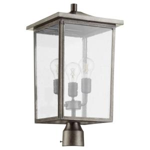 Riverside - 3 Light Outdoor Post Lantern in Transitional style - 11 inches wide by 21.5 inches high