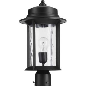 Charter - 1 Light Outdoor Post Lantern in style - 9.5 inches wide by 17 inches high