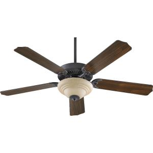 Capri III - Ceiling Fan in Quorum Home Collection style - 52 inches wide by 17.09 inches high