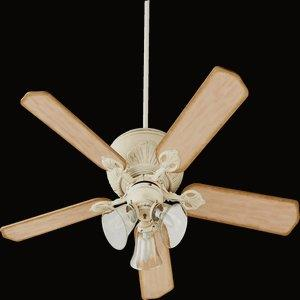 Chateaux - 52 Inch Ceiling Fan with 3 Light Fitter Kit