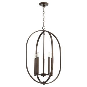 Collins - 4 Light Entry Pendant in style - 16 inches wide by 26.5 inches high