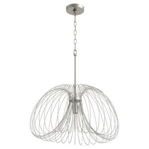 Loopy Loop - 1 Light Pendant in Contemporary style - 23.5 inches wide by 14 inches high