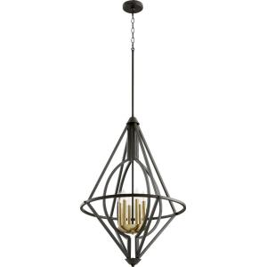 6 Light Pendant in Soft Contemporary style - 23.5 inches wide by 34.25 inches high
