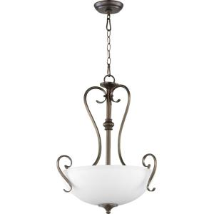 Powell - 3 Light Pendant in Transitional style - 19 inches wide by 24 inches high