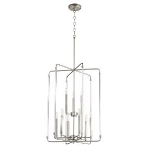 Optic - 9 Light 2-Tier Entry Pendant in Soft Contemporary style - 20 inches wide by 28 inches high