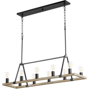 Paxton - 10 Light Linear Chandelier in  style - 12.25 inches wide by 11.75 inches high