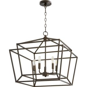 Monument - 5 Light Nook Pendant in Transitional style - 21 inches wide by 20 inches high