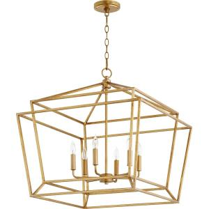 Monument - 6 Light Nook Pendant in Transitional style - 24 inches wide by 24.5 inches high