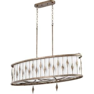 Cordon - 5 Light Linear Pendant in style - 15 inches wide by 15.5 inches high