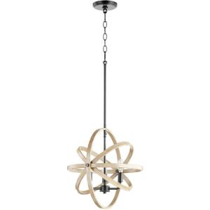 3 Light Sphere Chandelier in  style - 17 inches wide by 17 inches high