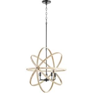 5 Light Sphere Chandelier in  style - 25 inches wide by 25 inches high
