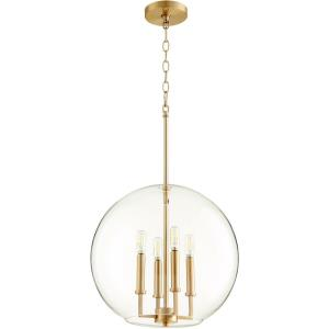 16 Inch Four Light Globe Pendant