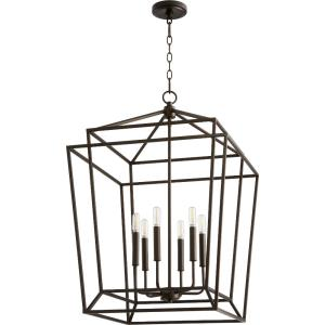 Monument - 6 Light Entry Pendant in Transitional style - 21 inches wide by 31 inches high