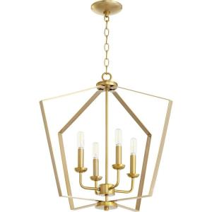 4 Light Entry Pendant in Quorum Home Collection style - 23 inches wide by 21 inches high
