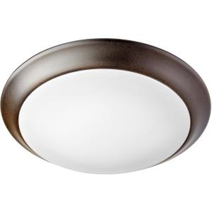 30W 1 LED Flush Mount in Quorum Home Collection style - 9.5 inches wide by 1.25 inches high
