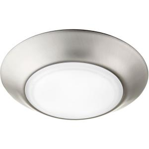 12W 1 LED Flush Mount in Quorum Home Collection style - 6 inches wide by 1 inches high
