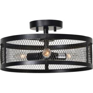 Beckett - Three Light Small Semi-Flush Mount