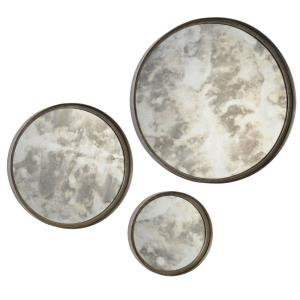 Shire - 21.5 Inch Round Small Mirror (Set of 3)
