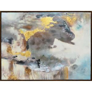 "Gleam - 48"" Large Rectangular Decorative Wall Art"