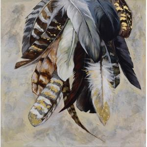 Feathertail - 45 Inch Large Square Decorative Wall Art