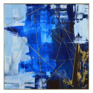 Blue Dream - 40 Inch Large Rectangular Decorative Wall Art