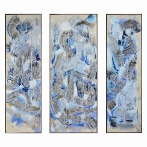 "Oracle - 62"" Large Rectangular Wall Art (Set of 3)"