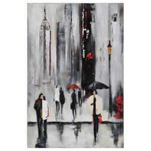 Bustling City I - 23.5 Inch Decorative Canvas