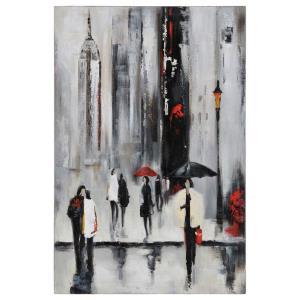 "Bustling City I - 23.5"" Decorative Canvas"